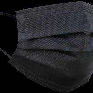 Zwarte wegwerp mondmaskers