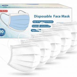 Witte wegwerp mondmaskers